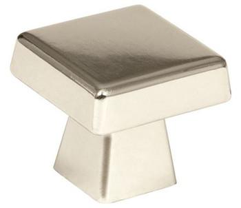 "Amerock, Blackrock, 1 1/2"" (38mm) Square Knob, Polished Nickel"