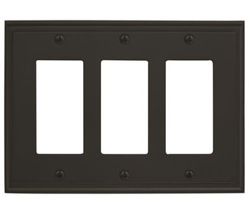 Amerock, Mulholland, 3 Rocker Wall Plate, Black Bronze