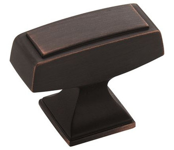 "Amerock, Mulholland, 1 1/2"" Rectangle Knob, Oil Rubbed Bronze"