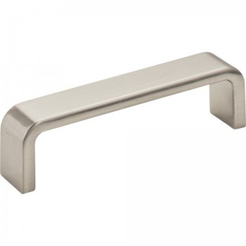 "Elements, Asher, 3 3/4"" (96mm) Center Pull, Satin Nickel"