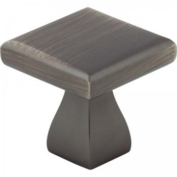 """Elements, Hadly, 1"""" Square Knob, Brushed Pewter"""