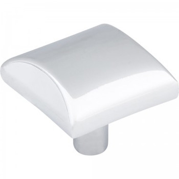 "Elements, Glendale, 1 1/8"" Square Knob, Polished Chrome"