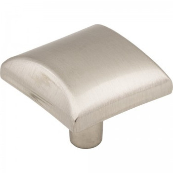 "Elements, Glendale, 1 1/8"" Square Knob, Satin Nickel"