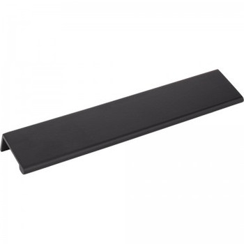 "Elements, Edgefield, 8"" Length 3 17/32"" Center Edge Pull, Matte Black"