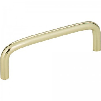 "Elements, Torino, 3 3/4"" (96mm) Wire Pull, Polished Brass"