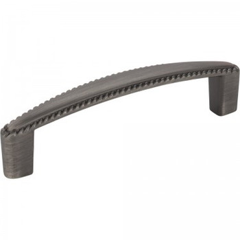 """Elements, Lindos, 3 3/4"""" (96mm) Straight Pull, Brushed Pewter"""