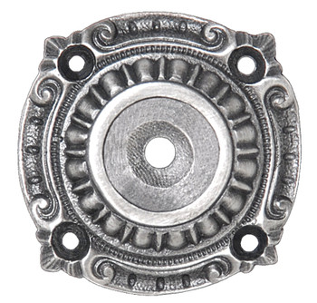 Notting Hill, Queensway, Back Plate, Antique Pewter