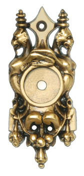 Notting Hill, Griffin Back Plate, 24K Satin Gold
