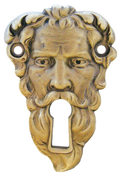 "Notting Hill, Sentinel, 2 1/2"" Length Escutcheon, Antique Brass"