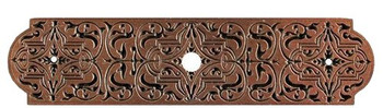 "Notting Hill, Renaissance Etch, 3 7/8"" Knob Back Plate, Antique Copper"