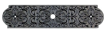 "Notting Hill, Classic, Renaissance Etch, 3 7/8"" Knob Back Plate, Brilliant Pewter"