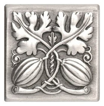 Notting Hill, Kitchen Garden, Autumn Squash Tile, Antique Pewter