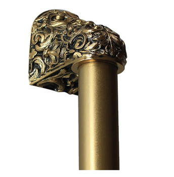 """Notting Hill, King's Road, Acanthus, 24K Satin Gold with 10"""" Plain Bar Appliance Pull, 14"""" Total Length"""