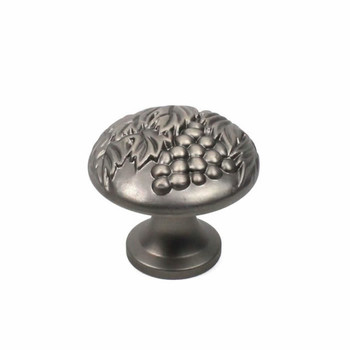 "Century, Vineyard, Premium Solid Brass 1 3/8"" Round Knob, Antique Nickel"