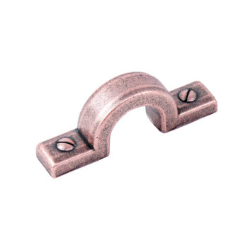 "Century, Raw Authentic, 1 1/4"" (32mm) Zinc Die Cast Curved Pull, Aged Matte Red Copper"