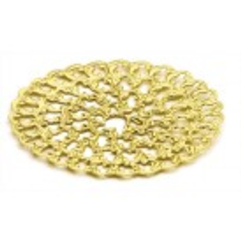 "Cal Crystal, Backplate, 1 7/8"" Round, Polished Brass"