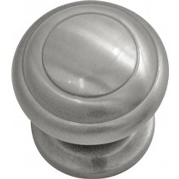 "Belwith Hickory, Zephyr, 1 1/4"" Round knob, Satin Nickel"