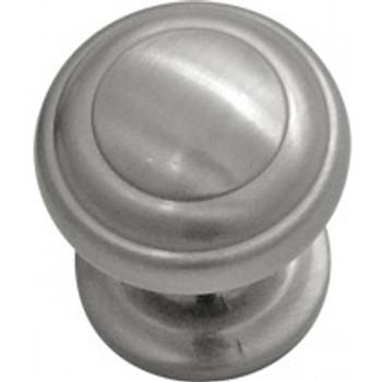 "Belwith Hickory, Zephyr, 1"" Round knob, Satin Nickel"