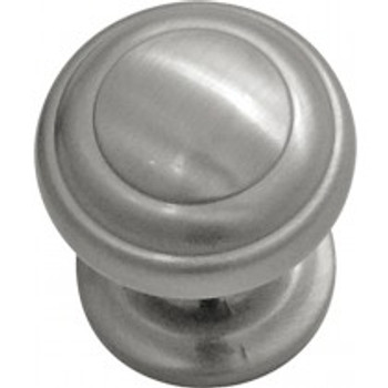 "Belwith Hickory, Zephyr, 1"" Round Knob, Satin Nickel"