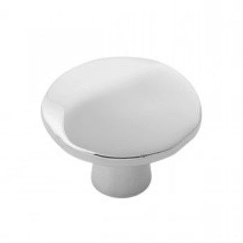 """Belwith Hickory, Willow, 1 3/8"""" Round knob, Polished Nickel"""