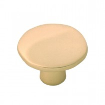 "Belwith Hickory, Willow, 1 3/8"" Round knob, Flat Ultra Brass"