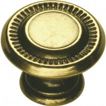 "Belwith Hickory, Manor House, 1"" Round Sunburst Knob, Lancaster Hand Polished"