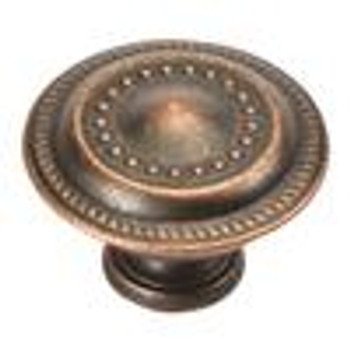 "Belwith Hickory, Manor House, 1 1/4"" Rim Design Round Knob, Dark Antique Copper"