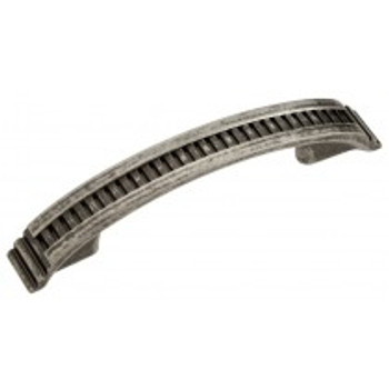 "Belwith Hickory, Sydney, 3"" and 3 3/4"" (96mm) Curved pull, Black Nickel Vibed"