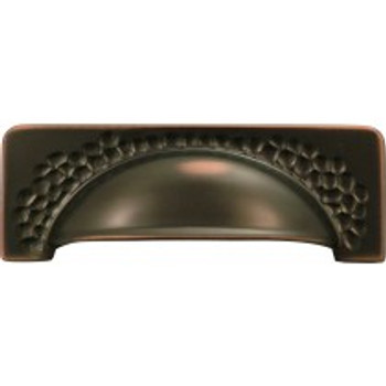 "Belwith Hickory, Craftsman, 3 3/4"" (96mm) Cup Pull, Oil Rubbed Bronze Highlighted"