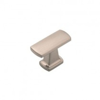 "Belwith Hickory, Rotterdam, 1 1/2"" Pull knob, Satin Nickel"