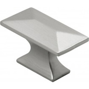 "Belwith Hickory, Bungalow, 1 3/4"" Rectangle knob, Satin Nickel"