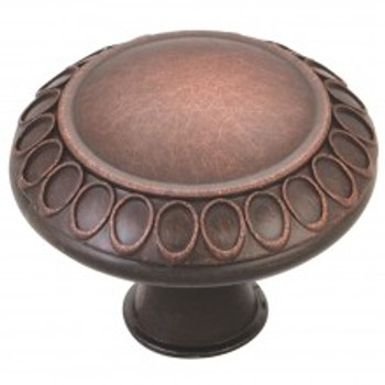 "Jeffrey Alexander, Symphony, 1 3/8"" Round knob, Brushed Oil Rubbed Bronze"