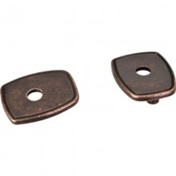 "Jeffrey Alexander, Square Escutcheon, 3"" - 3 3/4"" (96mm), Distressed Oil Rubbed Bronze"