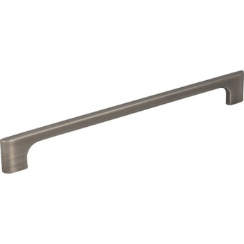 "Jeffrey Alexander, Leyton, 8 13/16"" (224mm) Straight Pull, Brushed Pewter"
