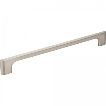 "Jeffrey Alexander, Leyton, 8 13/16"" (224mm) Straight Pull, Satin Nickel"