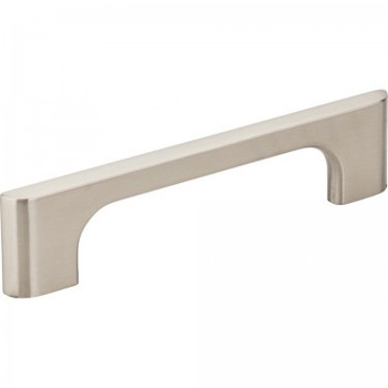 "Jeffrey Alexander, Leyton, 3 3/4"" (96mm) Straight Pull, Satin Nickel"