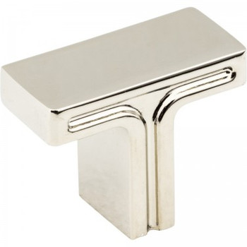 "Jeffrey Alexander, Anwick, 1 3/8"" Rectangle Knob, Polished Nickel"