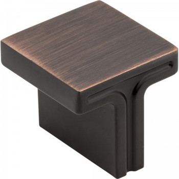 "Jeffrey Alexander, Anwick, 1 1/8"" Square Knob, Brushed Oil Rubbed Bronze"