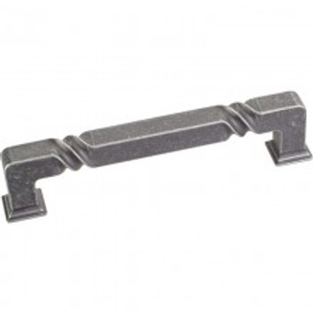 """Jeffrey Alexander, Tahoe, 5 1/16"""" (128mm) Straight pull, Distressed Antique Silver"""