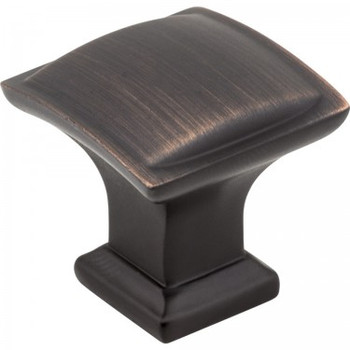 "Jeffrey Alexander, Annadale, 1 1/4"" Square Knob, Brushed Oil Rubbed Bronze"