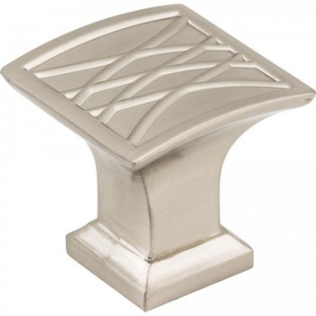 "Jeffrey Alexander, Aberdeen, 1 1/4"" Square Knob, Satin Nickel"