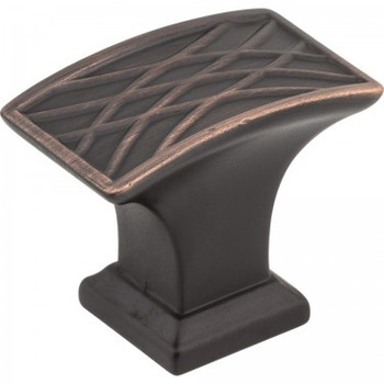 "Jeffrey Alexander, Aberdeen, 1 1/2"" Rectangle Knob, Brushed Oil Rubbed Bronze"
