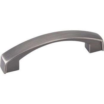 "Jeffrey Alexander, Merrick, 3 3/4"" (96mm) Curved pull, Brushed Pewter"