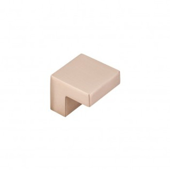 "Top Knobs, Nouveau III, Square 5/8"" Center knob, Brushed Bronze"