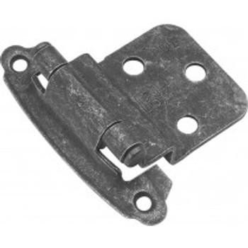 "Belwith Hickory, Hinge, Surface, Self-Closing 3/8"" Inset, Vibra Pewter"
