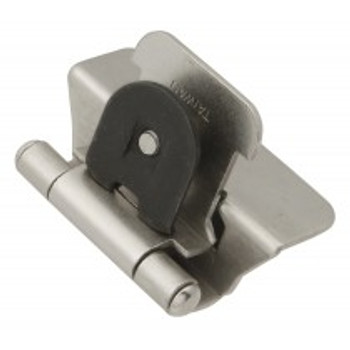 "Belwith Hickory, Hinge, Double Demountable, 1/4"" Overlay, Satin Nickel"