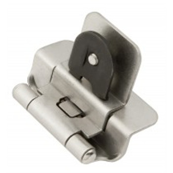"Belwith Hickory, Hinge, Double Demountable, 3/8"" Inset, Satin Nickel"