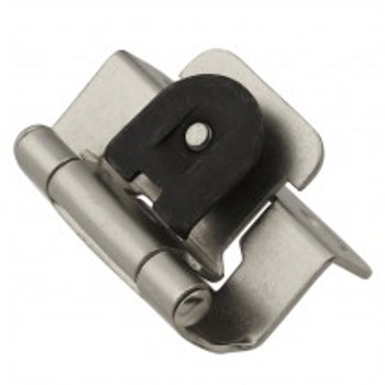 "Belwith Hickory, Hinge, Single Demountable, 1/2"" Overlay, Satin Nickel"