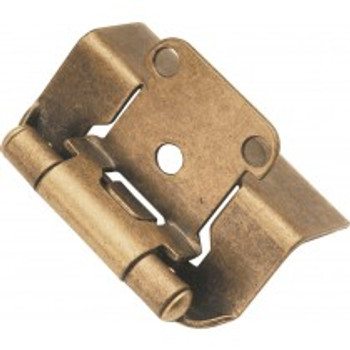 "Belwith Hickory, Hinge, Full Wrap, 1/2"" Overlay, Antique Brass"