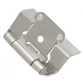 "Belwith Hickory, Hinge, Full Wrap, 1/2"" Overlay, Satin Nickel"
